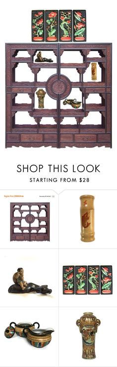 """""""Asian Flair"""" by across-the-gap-vintage ❤ liked on Polyvore featuring interior, interiors, interior design, home, home decor and interior decorating"""