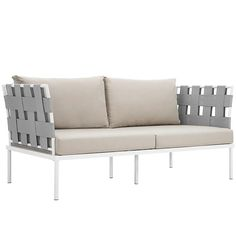 Harmony Outdoor Patio Aluminum Loveseat an all-weather waterproof furniture set that delivers an exceptional outdoor porch, patio, balcony or garden experience.