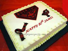 Essendon Bombers Cake