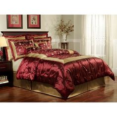 1000 images about master bedroom on pinterest bedding for Burgundy and gold bedroom designs