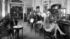mimbeau:  Hôtel de Paris Bar Monaco circa 1920 (Société des Bains de Mer de Monaco)