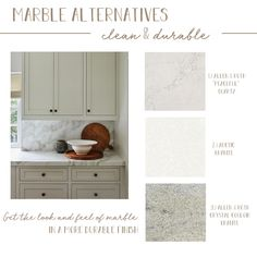 I love the look of marble, but always hate that it isn't durable! Here are some gorgeous marble alternatives!