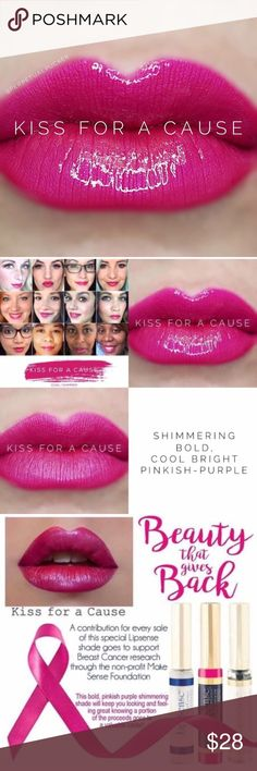 🎄$22 Sale🎄NWT. Kiss for a Cause Lip 💄Brand new, sealed liquid lipcolor. Lipsense by Senegence.  💋Kiss Proof, Smudge Proof, Long Lasting Lipcolor (Lasts 4-18 hours!) Try it! You won't be disappointed.  💥FIRM PRICE for all Lipsense items on Posh 💕First time? Get a starter kit (color, gloss, & oops remover). Colors need to be worn w/a gloss for maximum effectiveness. ✅Interested in being a distributor? $55 to join! No monthly min, 50% off products for you 1st 30 Days!  ✅Want more info?…
