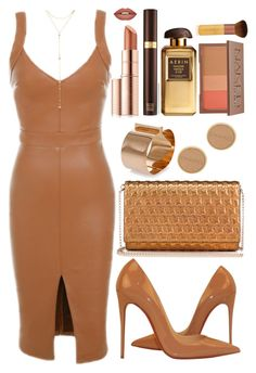 """""""Untitled #4495"""" by natalyasidunova ❤ liked on Polyvore featuring Christian Louboutin, Fragments, Dsquared2, Estée Lauder, EcoTools, AERIN, Urban Decay, Forever 21, Chanel and Tom Ford"""