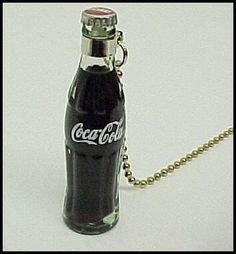 Coca-Cola Fan Pull Miniature Filled Bottle
