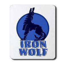 iron wolf Mousepad