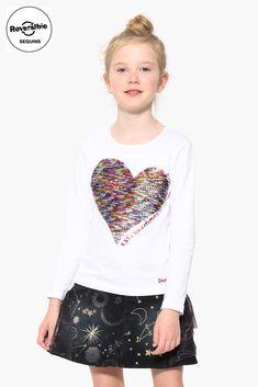 54f958743 Camiseta blanca Vancouver para niña de Desigual. Adrielsmoda · OUTLET MODA  INFANTIL