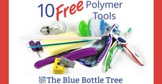 You don't need to buy expensive tools to work with polymer clay. Here are 10 free polymer clay tools that you will find around the house. Recycle and reuse.