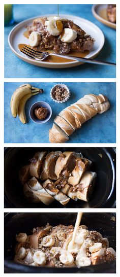 Slow-Cooker Caramel Banana French Toast. With ten minutes of prep, you'll have a delicious twist on french toast waiting for you to make the perfect weekend brunch complete.