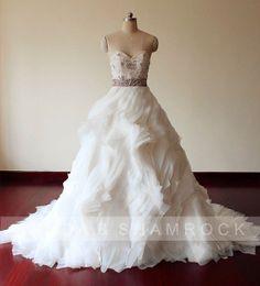 Flow in Wind/wedding gown/women by pandaandshamrock on Etsy, $700.00