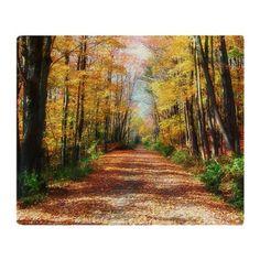autumn road Throw Blanket on CafePress.com