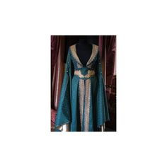 medieval dress costume medievaldress garb Renaissance larp celtic... ❤ liked on Polyvore featuring costumes, celtic costumes, blue halloween costume, renaissance halloween costume, blue costume and renaissance costumes