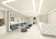 Chic But Welcoming Doctor's Clinic Design Ideas - Bored Art Medical Office Interior, Dental Office Decor, Medical Office Design, Healthcare Design, Clinic Interior Design, Clinic Design, Commercial Design, Commercial Interiors, Dental Design