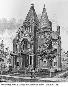 Frost house, Detroit    Illustration from Silas Farmer's, History of Detroit and…