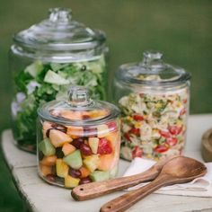 Shop Heritage Hill Glass Jars with Lids. A refresher course in retro storage an. Shop Heritage Hill Glass Jars with Lids. A refresher course in retro storage an… Shop Heritage Hill Glass Jars with Lids. A refresher course in retro storage and service. Bbq Party, Brunch Party, Crate And Barrel, Soirée Bbq, Backyard Engagement Parties, Wedding Backyard, Gourmet Breakfast, Glass Jars With Lids, Snacks Sains