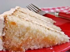 Vanilla Bean Buttermilk Cake with Amaretto Buttercream
