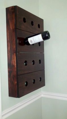 Homemade wine rack!! My husband and I made this wine rack after we had seen one similar at a restaurant and wanted to make our own!