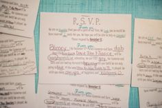 Mad Libs Wedding RSVP Cards