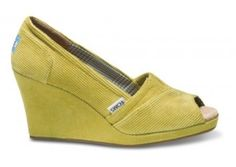 Chartreuse Toms by Caught my eye