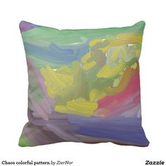 Chaos colorful pattern pillows