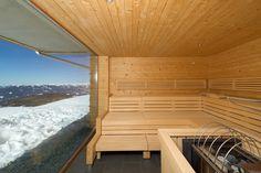Panorama Sauna im Alpinhotel Pacheiner auf der Gerlitzen Alpe. http://www.pacheiner.at