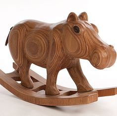 James Harvey Furniture - Rocking Hippo - The Rocking Hippo Rocking Horse Plans, Rocking Horses, Harvey Furniture, Hippopotamus For Christmas, Animal Projects, Kid Projects, Animal Help, Small Wood Projects, Wooden Horse