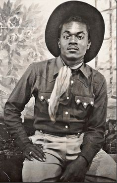 There were a lot of African American cowboys. Some of them very famous in their time. They have been left out of the history books.