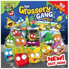 Looking for something new to collect? From the makers of Shopkins comes Grossery Gang! Check out the figurines on our site now there's over 150 to collect!  #GrosseryGang #New #SmythsToys #Smyths #Smythstoyssuperstore #Heyletsplay #Toystagram #Collectables #Collectors #OutNow #TrashPack #Shopkins
