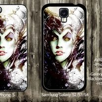 Malficent face iPhone 4 / 4S case iPhone 5 case Samsung Galaxy S2 case Samsung Galaxy S3 / S4 case