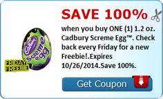 Savingstar: HOY GRATIS Cadbury Screme Egg!