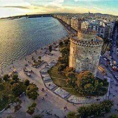 The White Tower - Thessaloniki Macedonia Greece, Athens Greece, Greece Thessaloniki, Beautiful Islands, Beautiful World, Beautiful Places, Places Around The World, Around The Worlds, Paradise On Earth