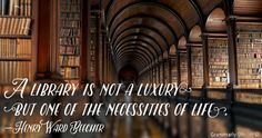 library is not a luxur