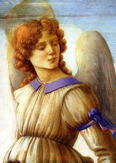 Filippino Lippi ~ Three Angels and Young Tobias (detail), c.1485