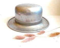 Vintage french metal millinery hat block form Hat by CabArtVintage,