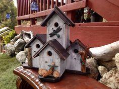 Master Condo Birdhouse - Post Mount Bird House - Decorative Outdoor Garden Art - Special Order Grand House - Songbird Mansion - Home Living
