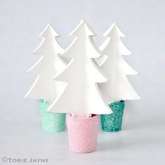 Glittery Trees tutorial by Torie Jayne