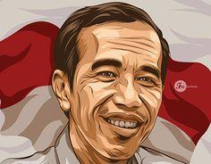 """""""fan art Pak Jokowi Presiden Indonesia vector vexel cartoon version"""" http://be.net/gallery/38549649/fan-art-Pak-Jokowi-Presiden-Indonesia-cartoon-version"""