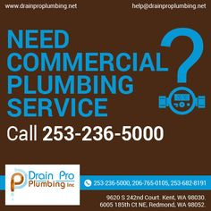 Drain Pro Plumbing Inc offer a full range of commercial plumbing services at affordable price. Plumbing Drains, Commercial Plumbing, Plumbing Emergency, Range, Cookers