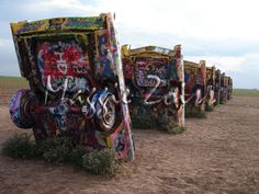 The Cadillac Ranch is a public art installation and sculpture in Amarillo, Texas.
