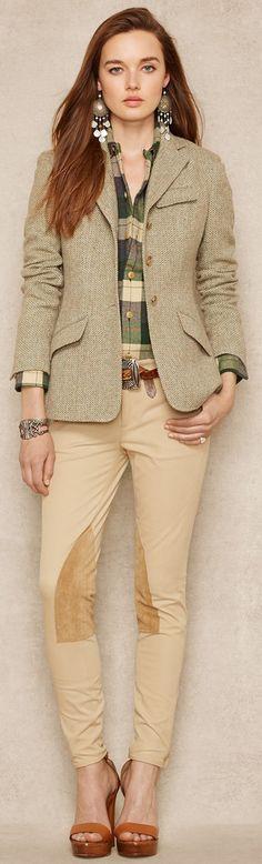 Ralph Lauren Lambswool Blend Tweed Jacket