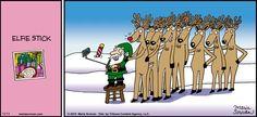 We want an #elfie stick for #Christmas! | Read Half Full #comics @ http://www.gocomics.com/half-full/2015/12/13?utm_source=pinterest&utm_medium=socialmarketing&utm_campaign=social | #GoComics #webcomic #elf #selfie
