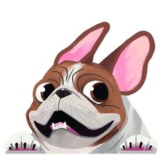 Brown Pied French Bulldog Sticker Decal