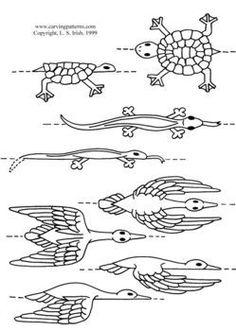 Walking Stick Carving Patterns | www.CarvingPatterns.com