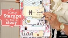 TERESA COLLINS DESIGNS: USING STAMPS TO TELL THE STORY Are you using your stamps to TELL A STORY? As a avid stamp lover, Teresa will share with you her secrets to incorporate stamping to add uniqueness and tell a story with your stamps. Featuring a book displayed on a clipboard with her collection Family Stories. #mycraftchannel @TeresaCollinsDesigns #stamps