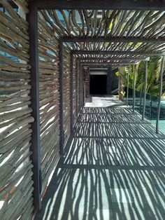 The special wooden corridors from Sheraton Gran Canaria