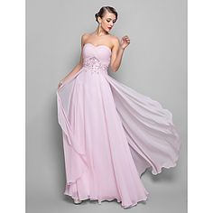 TS Couture A-line Plus Sizes / Hourglass / Pear / Misses / Petite / Apple / Inverted Triangle / Rectangle Mother of the Bride Dress - Blushing Pink – USD $ 99.99