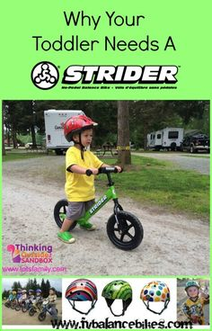 Why Your Toddler Needs A Strider. Proof that Strider Bikes will help your child's balance and confidence. #striderbikes #fvbalancebikes