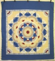 Broken Star Burst Amish Quilt - beautiful fiber craft!