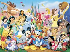 Cross Stitch PatternDisney Characters2 Instant by Fairygarden25