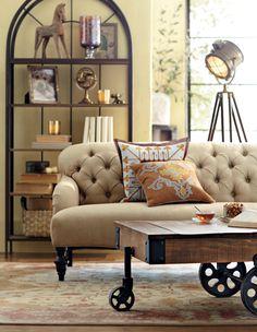 Neutral living room. HomeDecorators.com